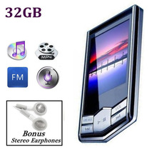 "Mayitr 1pc 32GB 1.8"" LCD Screen Digital MP4 Player Music Video FM Radio+Earphone +USB Charge Cable for MP4 Player(Hong Kong)"