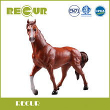 Recur Toys 19x17 cm Delicate Arabian Horse Action Figure Hand Painted Soft PVC Farm Animal Model Toys Gift For Kids Education