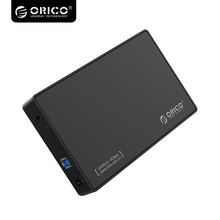 ORICO3.5 Inch SATA to USB 3.0 Tool-Free External Enclosure / Case for 9.5mm & 7mm SATA HDD SSD-3588US3-V1 Black(China)
