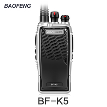 New Baofeng BF-K5 Professional Walkie Talkie 5W Portable Two Way Radio UHF 400-470MHz Pofung BFK5 Push To Talk FM Transceiver