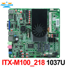 M100_218 Intel Celeron 1037U Thin Mini ITX Motherboard HTPC Mainboard