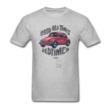 Men's Vintage Printed T Shirt VW Beetle Car Automotive Male Cotton Short Sleeve Tshirt Simple Style Men T-Shirt Cool Design Tops(China)