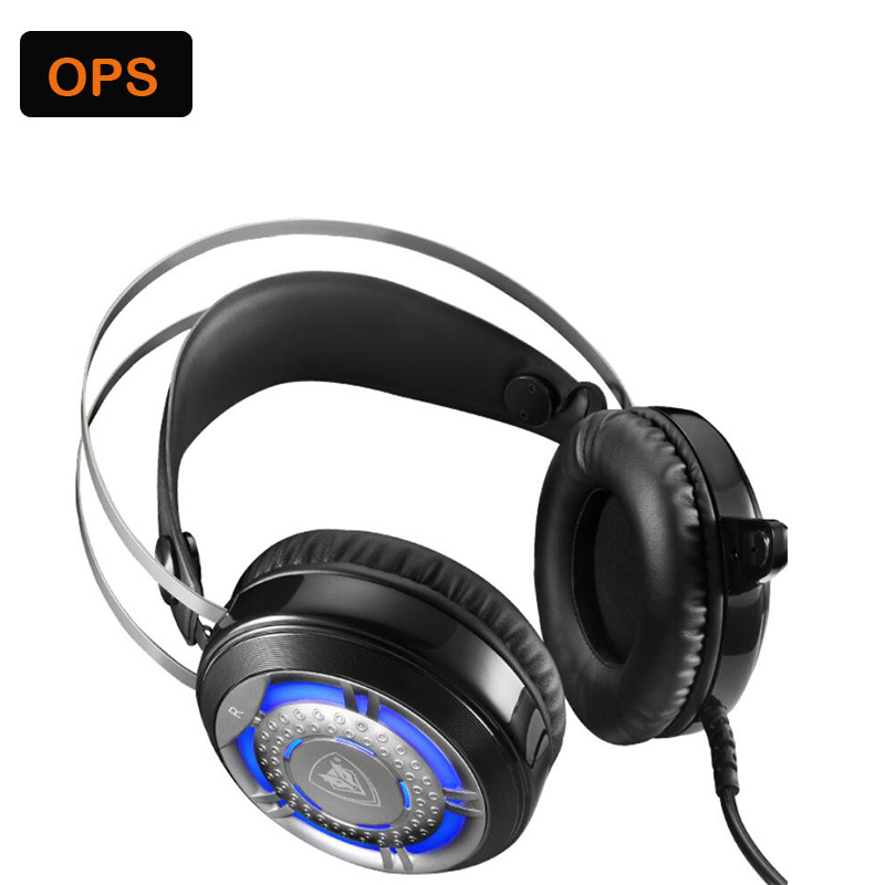 LED computer Gaming Headphones with Microphone for gamer&amp;compatible Android,iOS,MP3 system<br>