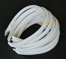 NEW Ivory cream 1.2cm plastic headband hair accessory for fascinator.(China)