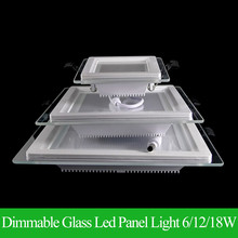 Dimmable LED Panel Downlight Super Bright Glass Square Ceiling Recessed Panel Lights SMD 5360 LED Spot Light Bulb AC110V 220V(China)