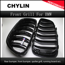 For BMW F10 5 Series 520i 523i 525i 530i 535i 2010-2014 Glossy Black Dual Slat M5 Style Front Kidney Grille Grill Wholesale D10
