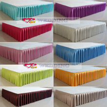 2017 hotel decoration Skirt decorated stage 68 d ice silk cloth production Double fold process Multicolor optional(China)