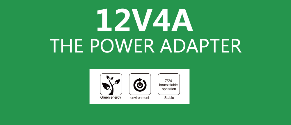 1pcs New 12V4A AC 100V-240V Converter Adapter DC 12V 4A 48W Power Supply DC 5.5mm x 2.1mm for 5050/3528 LED Light LCD Monitor