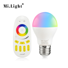 1Pcs Original Mi Light E27 6W RGB RGBW RGBWW LED Bulb lamp 110V 220V E27 2.4G RF Wireless Remote Control Smart Night lighting