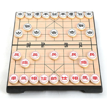 Portable Xiangqi Chinese Chess Set Magnetic Foldable Board Game 25*25*2cm Chess Game F227(China)