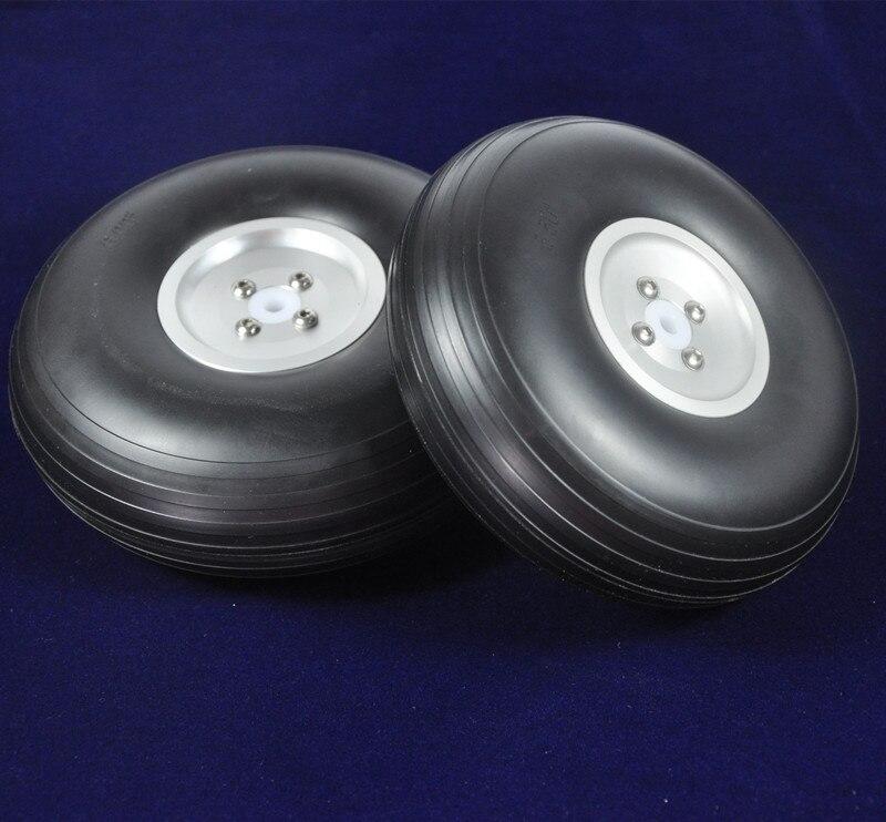 1 pair 5/127mm RC Airplane PU wheel with Dia-Casting Aluminum Hub w/ Screw<br>