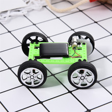 New Solar Power Mini DIY Assembled Intelligence Toy Children's Toy Car Outdoor Decoration Home Christmas Gifts For Child