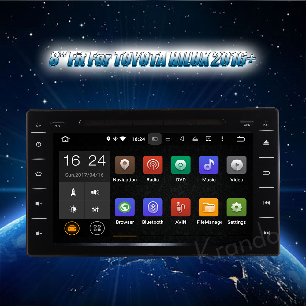 Krando Toyota Hilux Android car radio gps navigation multimedia system