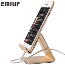 EMIUP Aluminum Metal Phone Holder Desktop Universal Non-slip Mobile Phone Stand Desk Hold for iPhone IPad Samsung Tablet(China)