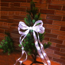 40Leds Ribbon Led String Lace Christmas tree Patry trendy Cloth Decor 4M 4 Colors for Party Gift Bow Box  Fairy night light TW