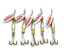 HENGJIA 5PC 7.8cm 8.1g Sequin spinnerbait Metal Bass isca Artificial Spoon Fishing lure pesca spinner bait Pike fishing hook(China)
