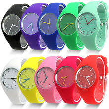 Excellent Quality Top Brand Watches Women Sports Candy-colored 11 Colors Jelly Silicone Strap Leisure Watch for gift(China)