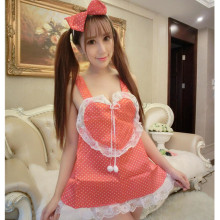Buy Sexy lingerie women costume underwear love Female Maid classical Lace sexy miniskirt lolita maid outfit sexy costume lingerie