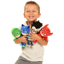 PJ 4Styles Cat Boy & Gekko & Owlette Cartoon Movie Masquerade Dolls & Stuffed Toys Size about 20-25cm