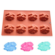 8-cavity 3D Zombie Brain Silicone Cake Mould Chocolate Soap Molds Halloween Kitchen Accessories Baking