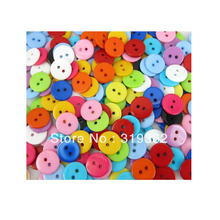 Free Shipping 300pcs Mixed Color Round Shape Resin Button Fit Sewing/Scrapbook 12mm (W02230)