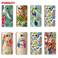 PUNQZY Case for SamSung Note3 Note4 Note5 A3 A5 A7 A3 2016 A5 2016 A7 2016 A8 A3 2017 A5 2017 A7 2017 S8 S8 Plus The parrot hard(China)