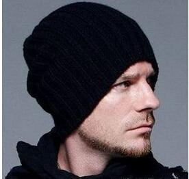 Knitted mens hat fashion Korean winter autumn warm wool knit hat cap outdoor ski hats capsÎäåæäà è àêñåññóàðû<br><br><br>Aliexpress