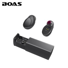 BOAS True Wireless Bluetooth 4.1 Earphone Double Two Ear Sport Stereo Earphone Handsfree with MIC Charge Box For iphone 7 Xiaomi