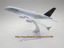 16cm Alloy Metal German AIR Lufthansa Airlines Airbus 380 A380 D-AIMF Airways Airplane Model Plane Model W Stand Aircraft