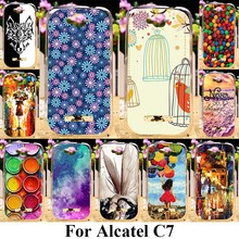 AKABEILA TPU SIlicone Phone Cases For Alcatel OneTouch Pop C7 7040D/7041D/7040E 7040A/7040F/7041X J720 Covers Bags Ballon Girls(China)