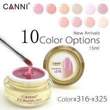 CANNI Acrylic French Nail Jelly Builder Gel 15ml New Arrived 25 Colors UV LED Builder Gel Soak Off Camouflage GEL Hard Gelly Gel(China)
