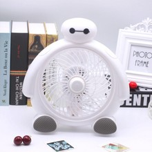 Mini Desktop Fan 3 Blades Silent Desk BayMax JSD-190K Home Air Cooling Blower Portable Clip-on Table Fan(China)