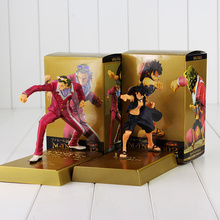 2pcs/lot 15cm Anime One Piece Figure Toy Luffy VS Gild Tesoro Film Gold Manhood 2 DXF Model Doll for Children