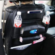 PU Leather Car Seat Back Bag Organizer Storage Phone Holder Multi-Pocket Stowing Tidying(China)