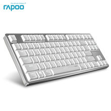 New Rapoo MT500 Backlit Office Mechanical Keyboard for Windows and Mac OS Dual System(China)