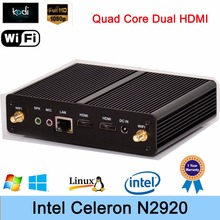 Intel Celeron N2920 Mini PC 1.86GHz Quad-Core Linux Windows7/8 Desktop Computer TV Box HTPC HD Graphics Dual HDMI Smallest PC