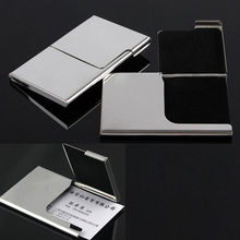 Stainless Steel Pocket Business Name Credit ID Card Holder Box Metal Box Case x1