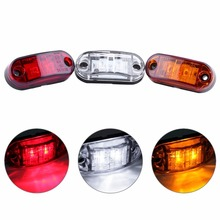 4X 2 LED Auto Car Truck Trailer Caravan Side Marker Light Clearance Lamp 12V 24V White/red/yellow