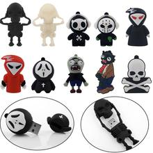 100% real capacity New Arrival Fashion Creative Skull usb flash drive 8GB 16GB 32GB 64GB flash drive memory pen drive
