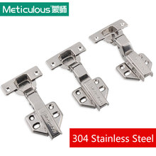 Meticulous 304 Stainless Steel Cabinet Hinge Hydraulic Cupboard Door Hinges Copper Core Damper Buffer For Kitchen Furniture(China)