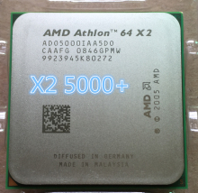 AMD CPU Athlon 64 X2 5000+ x2 5000+ processor(2.6GHz AM2 940pin Dual-Core)desktop cpu(China)