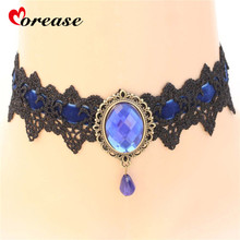 Buy Rhinestone Sexy Necklace BDSM Bondage Collar Bound Slave Restraints Girl Women Cosplay Sex Toy Product Fetsih Erotic Wear