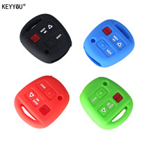 KEYYOU Remote 3 Buttons Silicone Case Key Cover For Lexus GX470 RX350 ES300 RX300 RX400h LS LX NX RC RX SC GS Key Shell Cover