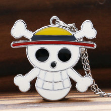 One Piece Luffy Theme Pocket Watch Skull Bone Fob Quartz Clock for Boys Girls Best Gift(China)