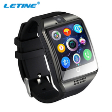Letine Q18 Sport Smart-Watch Phone Women Men Touch Screen Clock Wrist Watch Cell Phone with Camera SIM for iOS Android PK DZ 09(China)