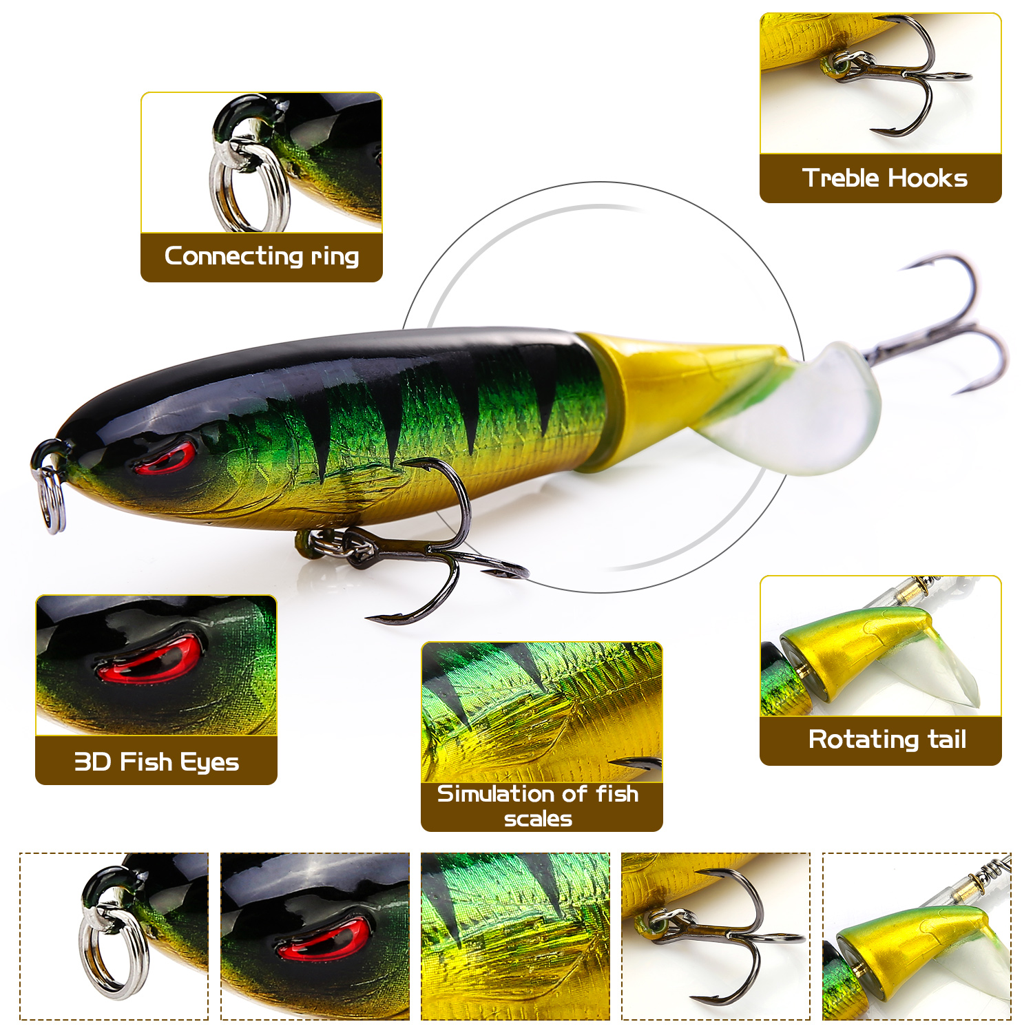 Multi-section Shrimp Baits with 4 Removable Tails Used in Lake//River//Ocean