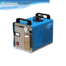 110V 300W Portable Oxygen Hydrogen Flame Generator Acrylic Polishing Machine, 95L 2 Gas Torches free, Double Guns