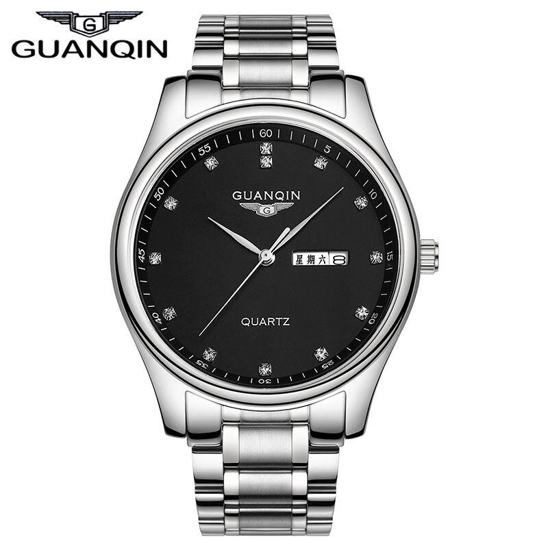 Guaranteed! GUANQIN new mens automatic watch waterproof sapphire fashion diamond wristwatch hours (GQ80009)<br>