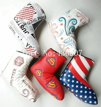 High Quality 1pc Golf Blade Putter Covers For Golf Scotty Cameron Putter USA Flag Red Super Bees Embroidery Headcover(China)