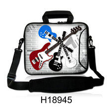 "Colorful Guitars Type 10""13""14""15""17""Computer Handle Cover Case Bag Neoprene Laptop Shoulder Portable Carring Forder For Samsung(China)"